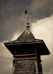 The pagoda at Knockdhu Distillery near Huntly, Scotland.