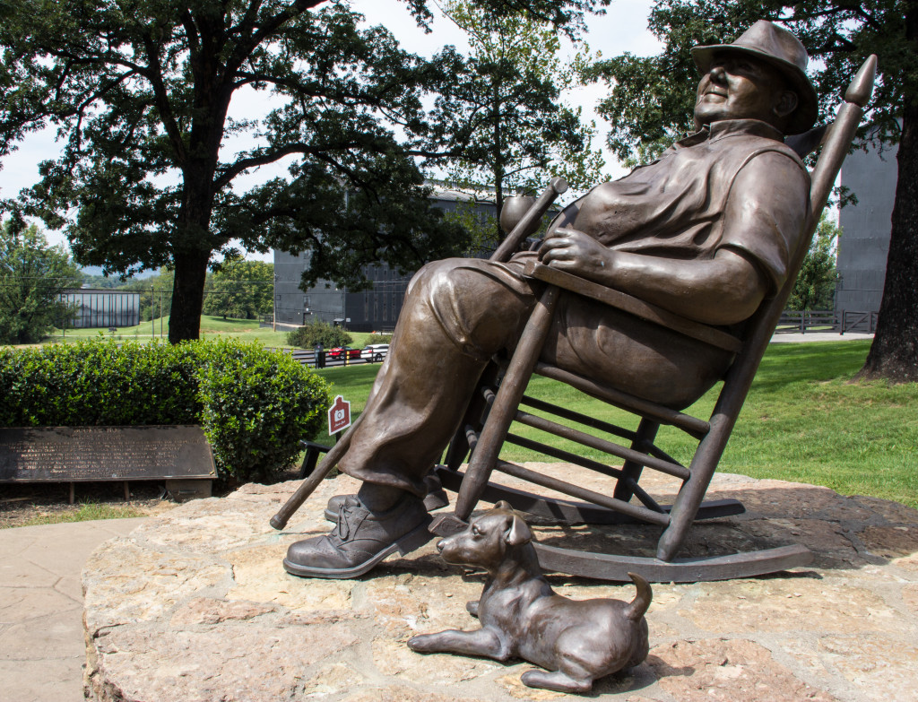 The statue of Booker Noe at the Jim Beam Distillery in Clermont, Kentucky. Photo ©2012, Mark Gillespie/CaskStrength Media.