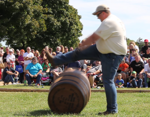 Truman Cox performs his barrel dance during the Kentucky Bourbon Festival in September, 2012. Truman passed away on February 9, 2013 following a short illness.