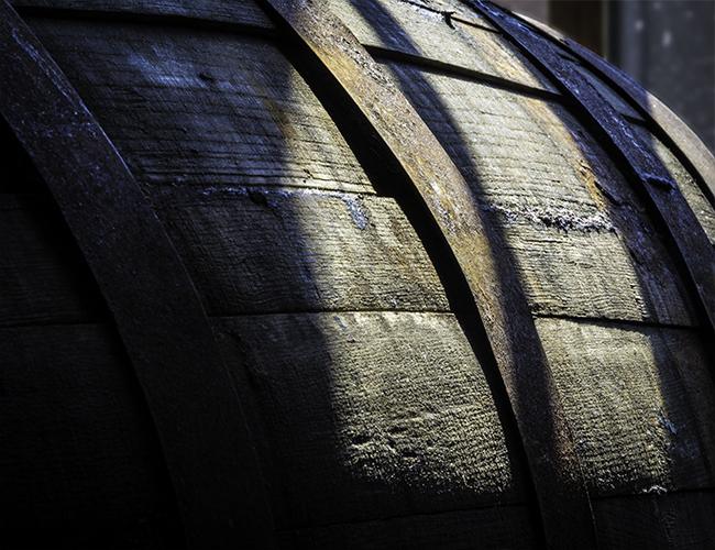 A whisky barrel at Philadelphia's New Liberty Distillery. Photo ©2016, Mark Gillespie/CaskStrength Media.