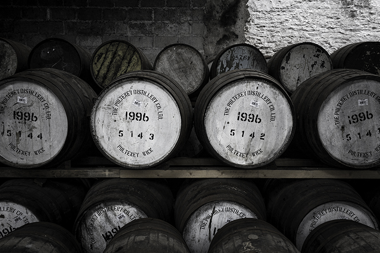 Casks filled 20 years ago at the Pulteney Distillery in Wick, Scotland. Photo ©2016, Mark Gillespie/CaskStrength Media.
