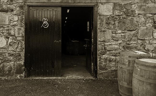 A warehouse at Balblair Distillery in Scotland. Photo ©2011 by Mark Gillespie.