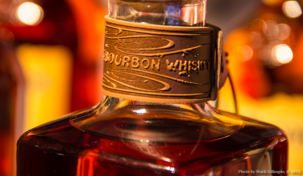 A bottle of Four Roses Single Barrel Bourbon.