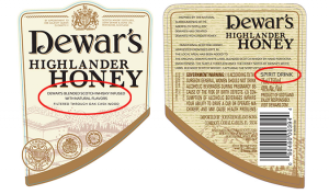 Dewars_Honey_labels