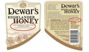 Dewars_Honey_labels