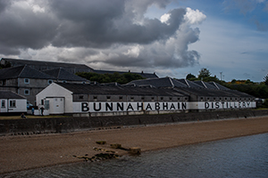 Bunnahabhain Distillery in Scotland.