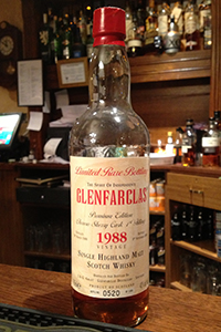 Glenfarclas 1988. Photo © 2013 by Mark Gillespie.