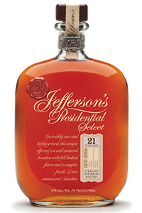 Jefferson's Presidential Select 21. Image courtesy Castle Brands/McLain & Kyne.