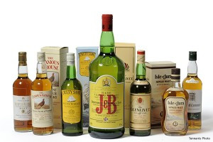 Tennants Auction Lot of 7 Bottles Signed by Former British Prime Ministers. Photo courtesy Tennants.