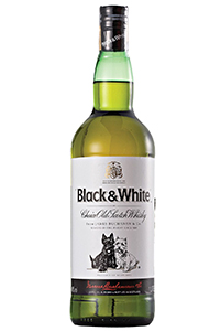 Black & White Blended Scotch Whisky. Image courtesy Diageo.