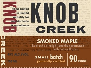 The label for Knob Creek Smoked Maple Bourbon, to be released in the fall of 2013. Image courtesy Tax & Trade Bureau.