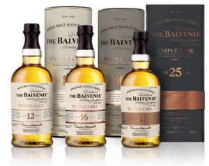 The Balvenie Triple Cask Range. Image courtesy The Balvenie.