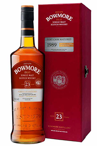 Bowmore 1989 Port Cask. Image courtesy Morrison Bowmore Distillers.
