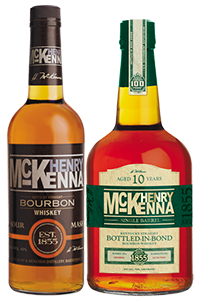Henry McKenna and Henry McKenna Bottled in Bond Single Barrel Bourbons. Image courtesy Heaven Hill Distilleries.