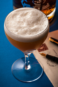 Tony Conigliaro's Camomile Sour Cocktail. Image courtesy Chivas Brothers.