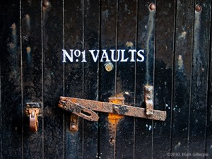 Vaults No. 1 at Bowmore Distillery on Islay, where the 1964 Bowmores were matured. Image © 2010 by Mark Gillespie.