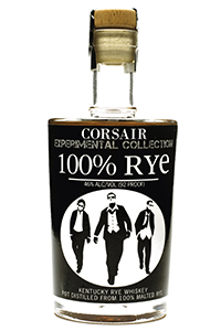 Corsair 100% Rye Whiskey. Image courtesy Corsair Artisan Distillery.