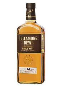 Tullamore Dew 14 Year Old Single Malt Sherry Cask Finish. Image courtesy William Grant & Sons.