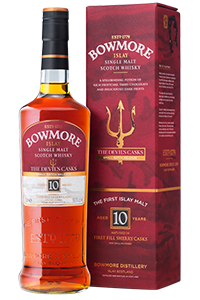 Bowmore Devil's Casks Single Malt Scotch Whisky. Image courtesy Morrison Bowmore Distillers.