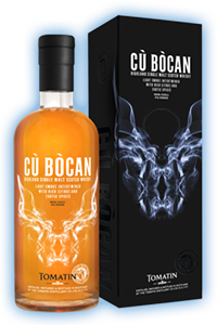 Cù Bòcan Single Malt Whisky. Image courtesy Tomatin.