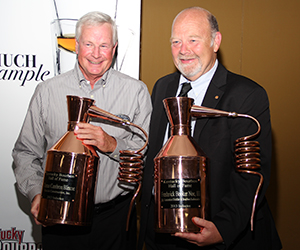 Kentucky Bourbon Hall of Fame 2013 inductees Tom Blincoe (L) and Fred Noe. Image ©2013 by Mark Gillespie.