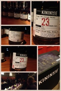 Photos of the Kininvie 23-year-old Batch #001 available in Taiwan. Image courtesy Ho-Cheng Yao.