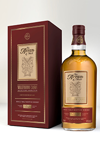 Arran's Millennium Casks Single Malt Scotch Whisky. Image courtesy Isle of Arran Distillers.