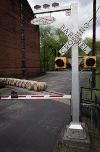 "The ""Barrel Crossing"" at Buffalo Trace Distillery in Frankfort, Kentucky. Photo ©2011 by Mark Gillespie."