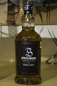 Springbank 12 Single Cask. Photo ©2013 by Mark Gillespie.