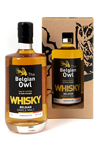 The Belgian Owl Cask Strength. Image courtesy The Owl Distillery.