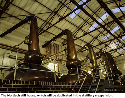 The Mortlach still house. Photo ©2013 by Mark Gillespie.