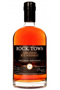 Rock Town Arkansas Rye Whiskey. Image courtesy Rock Town Distillery.
