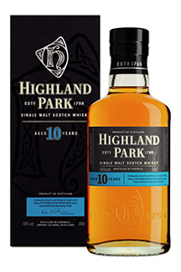 Highland Park 10-year-old Single Malt Scotch. Image courtesy Highland Park.
