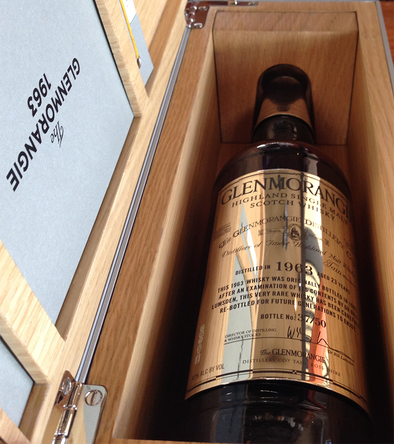 Reserve 101's bottle of Glenmorangie 1963. Image courtesy Reserve 101.