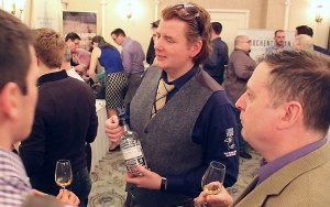 Jan Beckers of Douglas Laing & Co. meets with whisky lovers during the Victoria Whisky Festival on January 18, 2014. Photo ©2014 by Mark Gillespie.