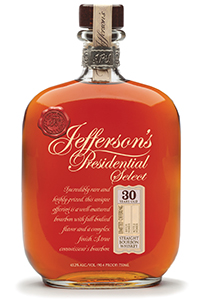 Jefferson's Presidential Select 30 Year Old Bourbon. Image courtesy McLain & Kyne.