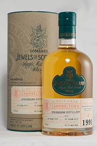 Lombard Jewels of Scotland Springbank 21. Image courtesy D&M Liquors.