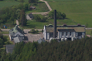 An aerial view of Tormore Distillery in 2010. Photo ©2010 by Mark Gillespie.