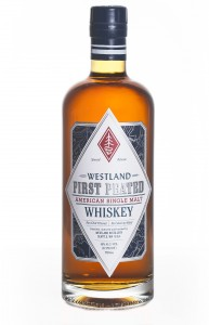 Westland First Peated American Single Malt. Image courtesy Westland Distillery.