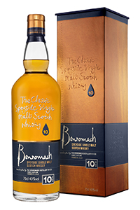 The new packaging for Benromach 10. Image courtesy Gordon & MacPhail.