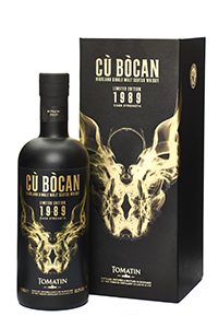 Cù Bòcan 1989 Single Malt. Image courtesy Tomatin Distillery.
