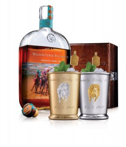 Woodford Reserve's Kentucky Derby Mint Julep Cups to Benefit Old Friends Thoroughbred Retirement Center. Image courtesy Woodford Reserve.