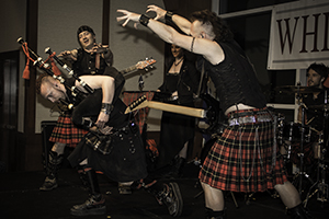 Scottish rock band Celtica performs during Whisky Live New York on April 9, 2014. Photo ©2014 by Mark Gillespie.