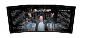 The 2014 Maker's Mark Keeneland label featuring Kentucky football coach Mark Stoops. Image courtesy TTB.gov.
