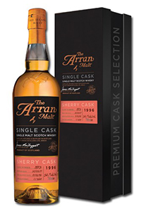Arran 1997 Premium Sherry Single Cask. Image courtesy Arran Distillers.