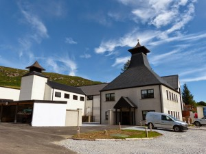 The exterior of Ardnamurchan Distillery in Scotland. Image courtesy Adelphi Distillery, Ltd.