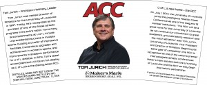 The label for a commemorative Maker's Mark bottle honoring University of Louisville athletic director Tom Jurich. Image courtesy Maker's Mark/TTBOnline.gov.