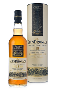 GlenDronach 18-Year-Old Tawny Port Finish Single Malt Scotch Whisky. Image courtesy GlenDronach Distillery.