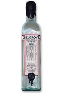 Belgrove White Rye Whiskey. Image courtesy Belgrove Distillery.