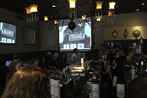 The Laphroaig Live viewing party at Time in Philadelphia, Pennsylvania on September 24, 2014. Photo ©2014 by Mark Gillespie.